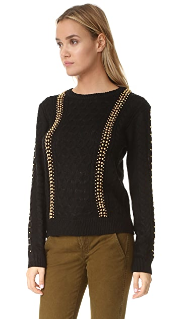 endless rose Studded Cable Sweater
