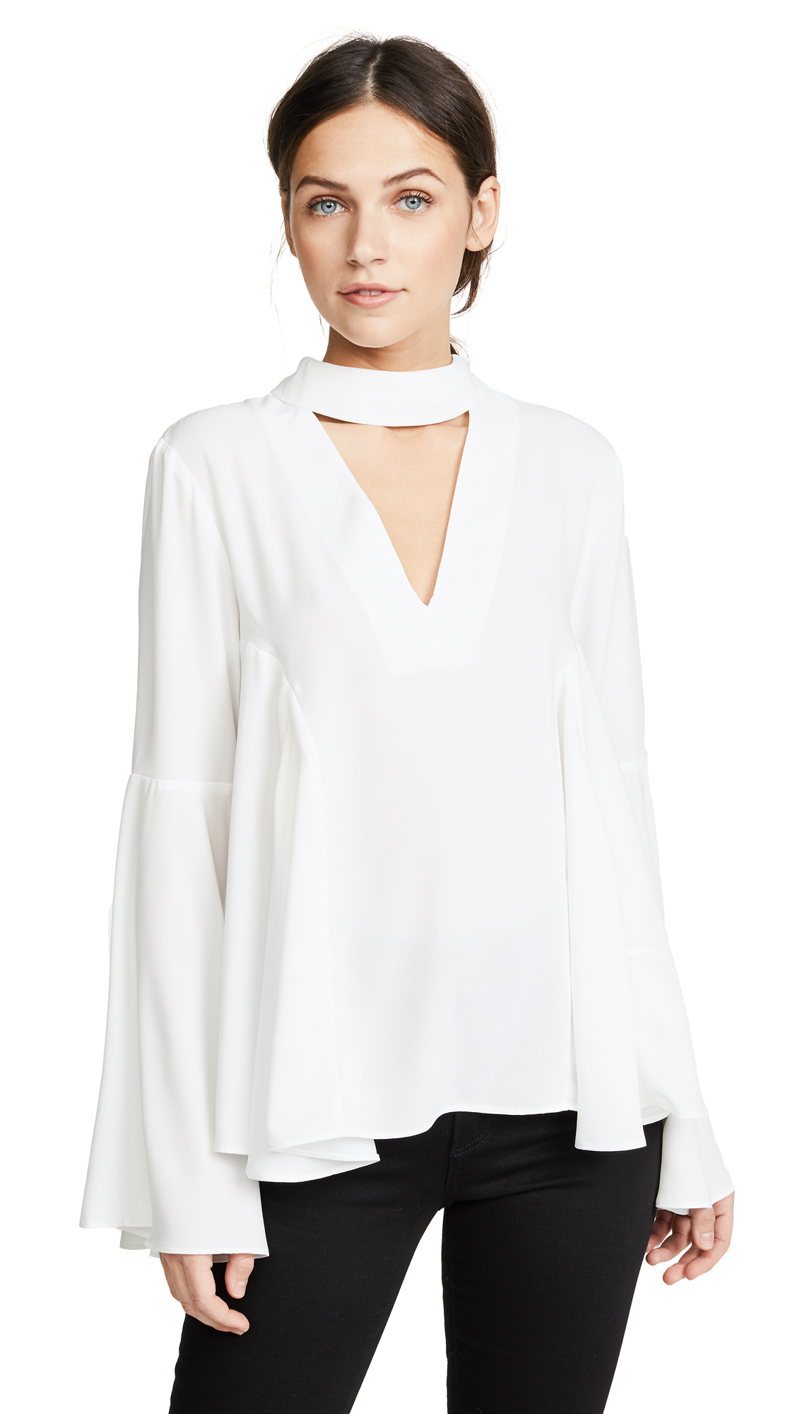 endless rose Collar Blouse - White