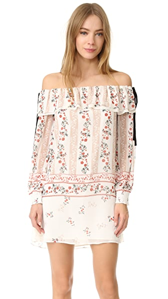 endless rose Printed Off Shoulder Dress