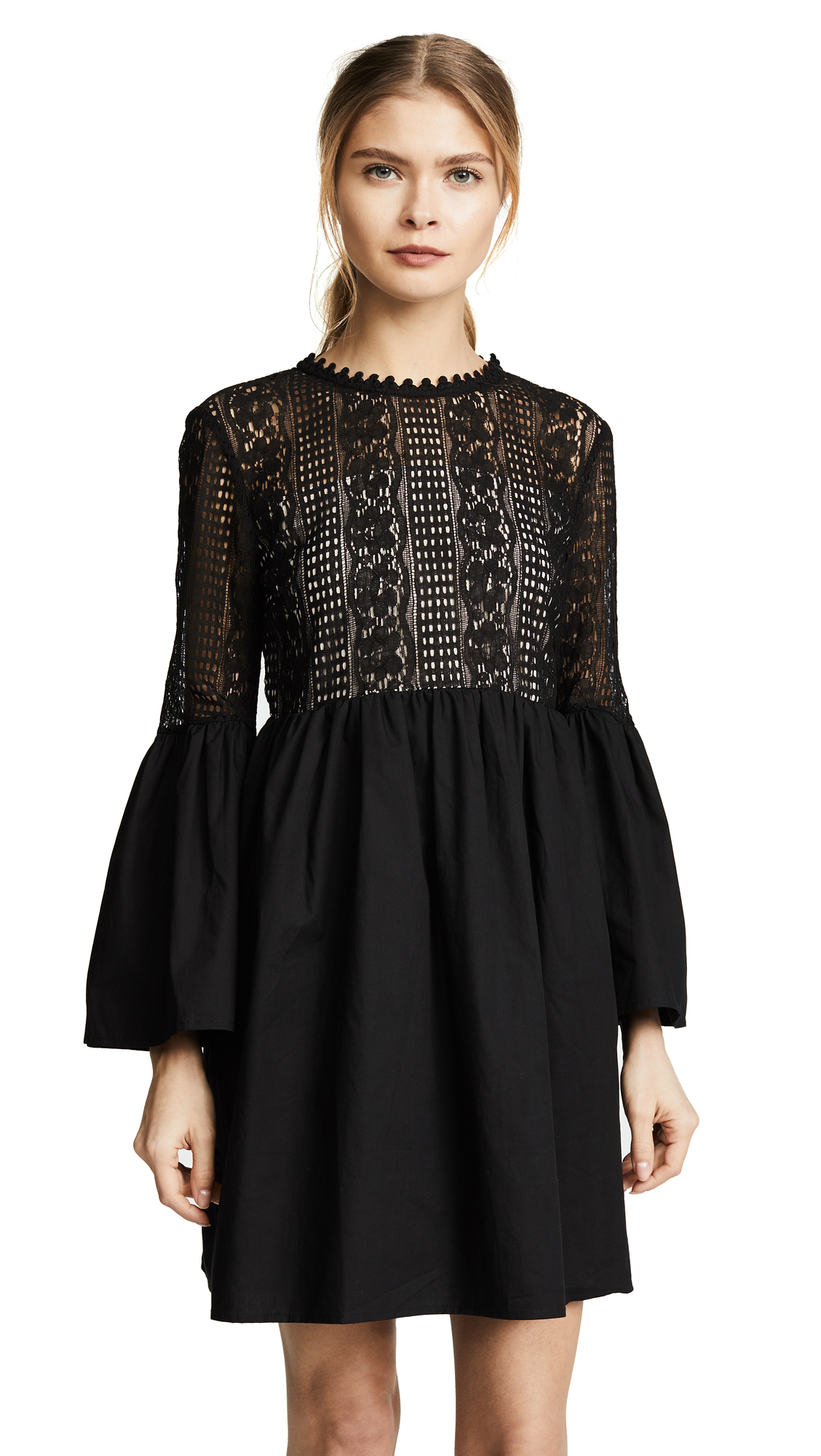 endless rose Lace Mini Dress - Black