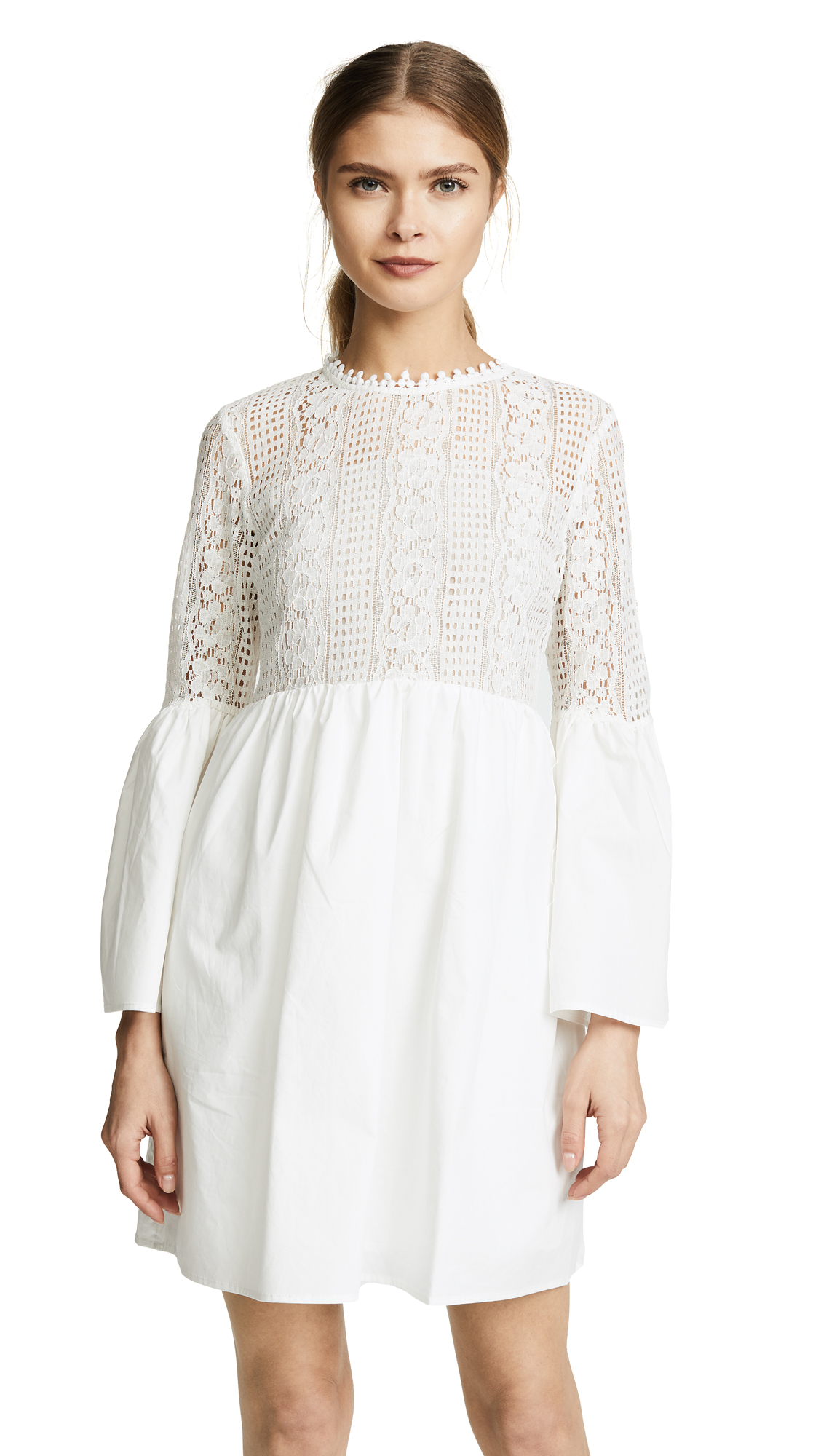 endless rose Lace Mini Dress - Off White