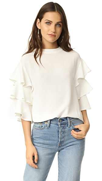 endless rose Ruffle Shirt - White