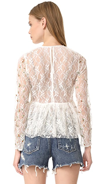 endless rose Embroidered Lace Top