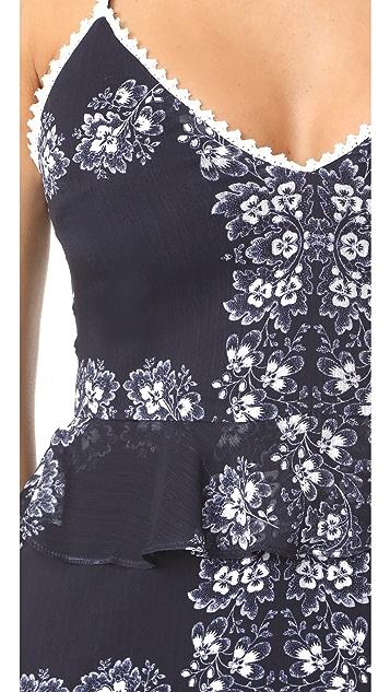 endless rose Hibiscus Print Dress