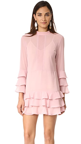 endless rose Dress With Tiered Sleeve In French Rose
