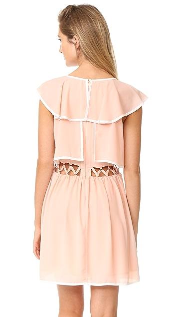 endless rose Open Waist Flared Dress