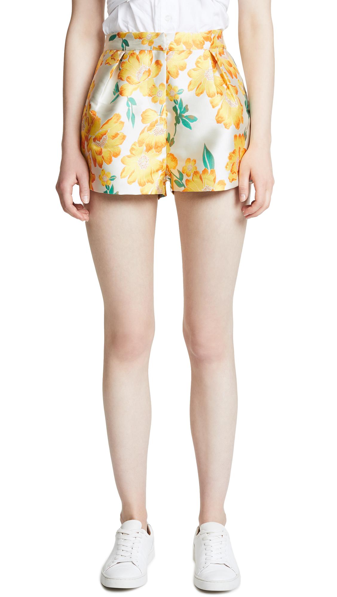 endless rose Floral Brocade Shorts In Floral Brocade