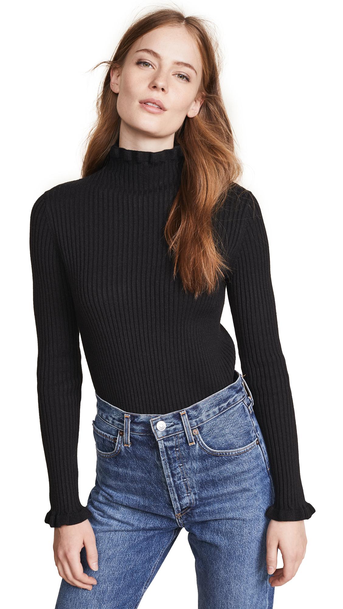 endless rose Turtleneck Sweater In Black
