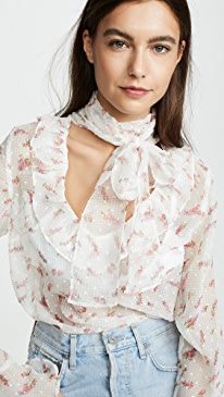 0ba8b0177a endless rose. Bow Tie Blouse