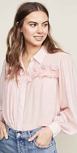 ac633a261f388 endless rose. Chiffon Button Down Top