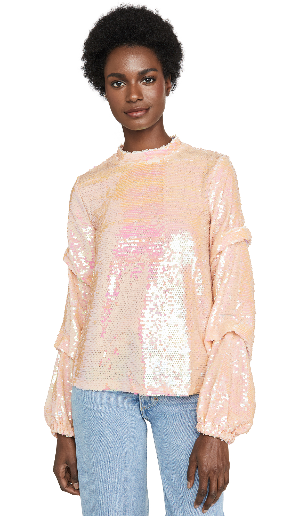 Buy endless rose online - photo of endless rose Sequin Tucked Sleeve Top