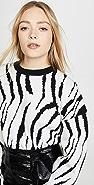 endless rose Zebra Pattern Sweater