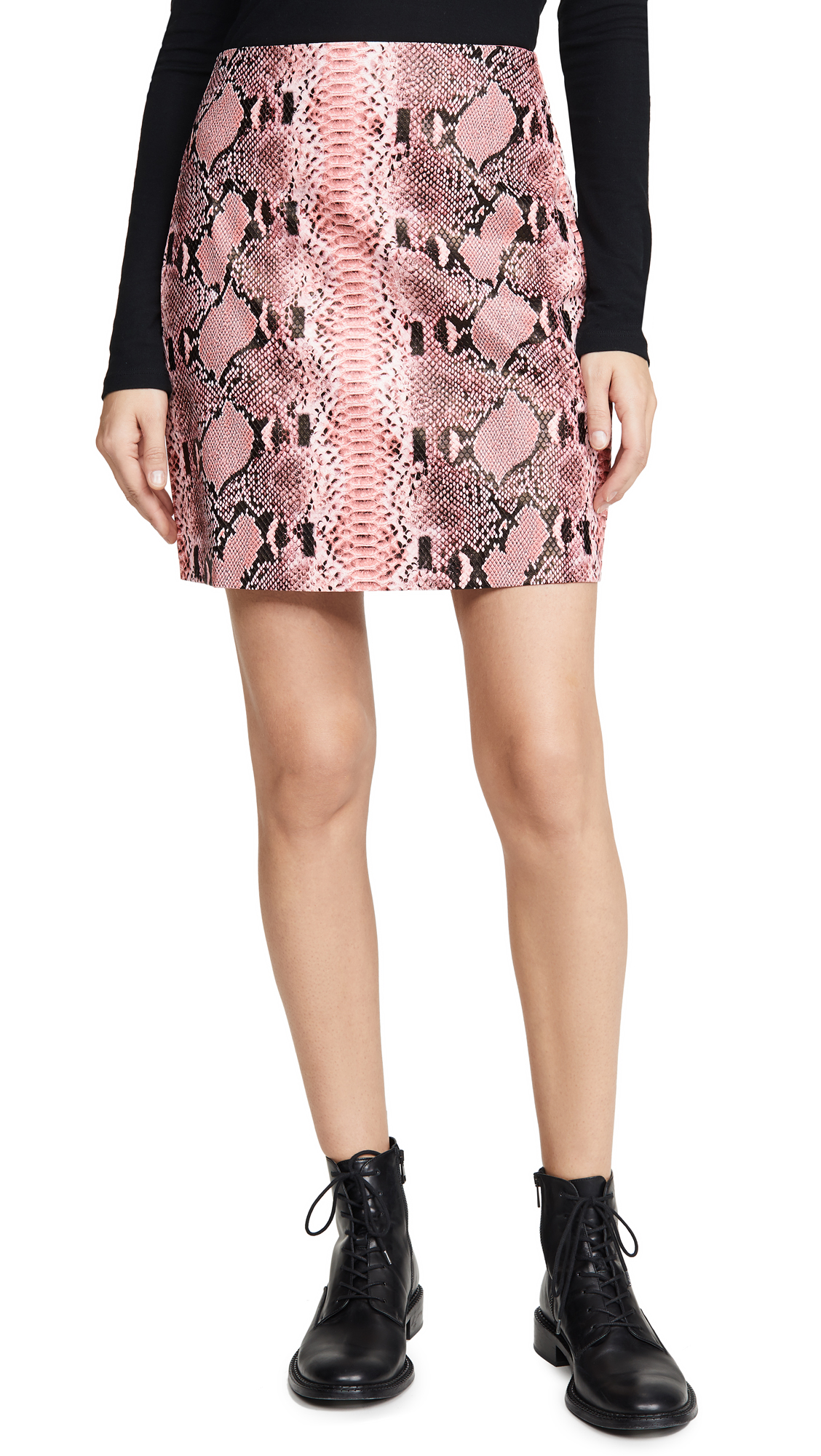 Buy endless rose online - photo of endless rose Faux Snake Skin Pattern Miniskirt