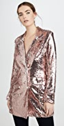 endless rose 亮片双排扣西装外套