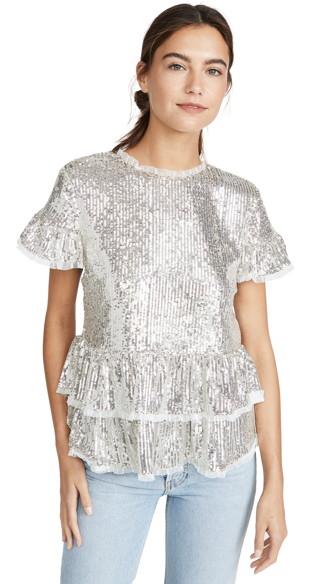 Buy endless rose online - photo of endless rose Sequin Tiered Blouse