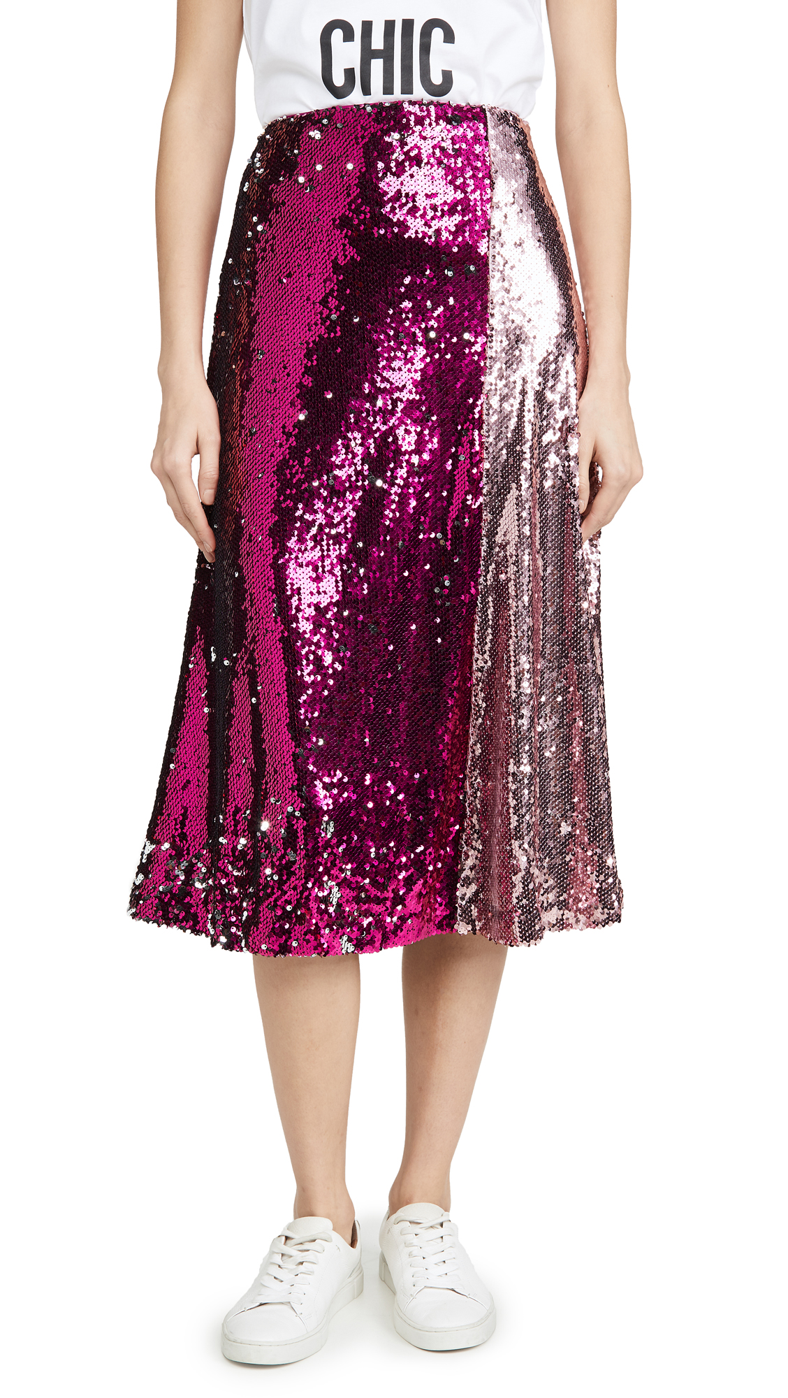 Buy endless rose online - photo of endless rose Colorblock Sequin Skirt