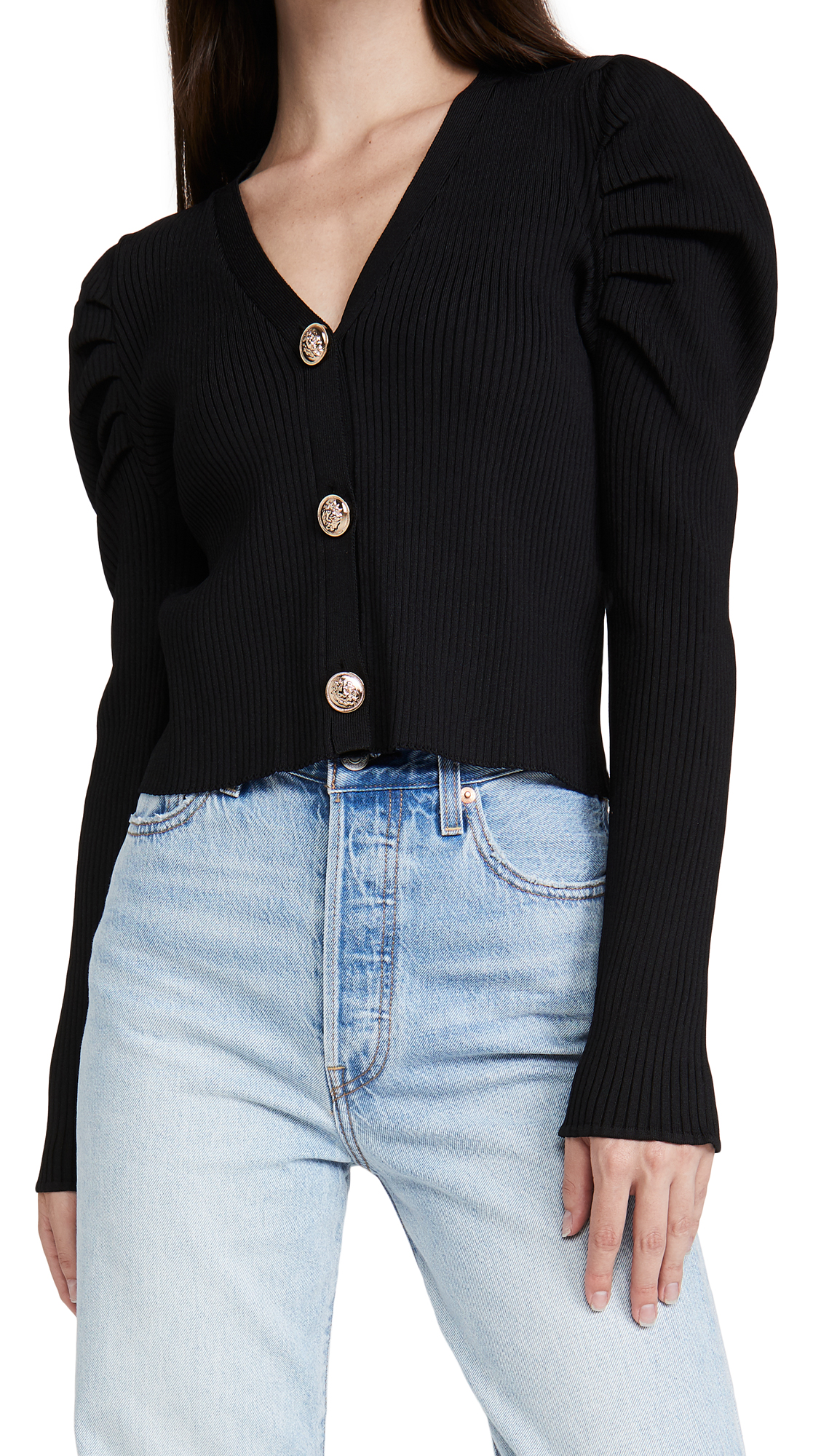 Endless Rose PLEATED PUFF SLEEVE TOP