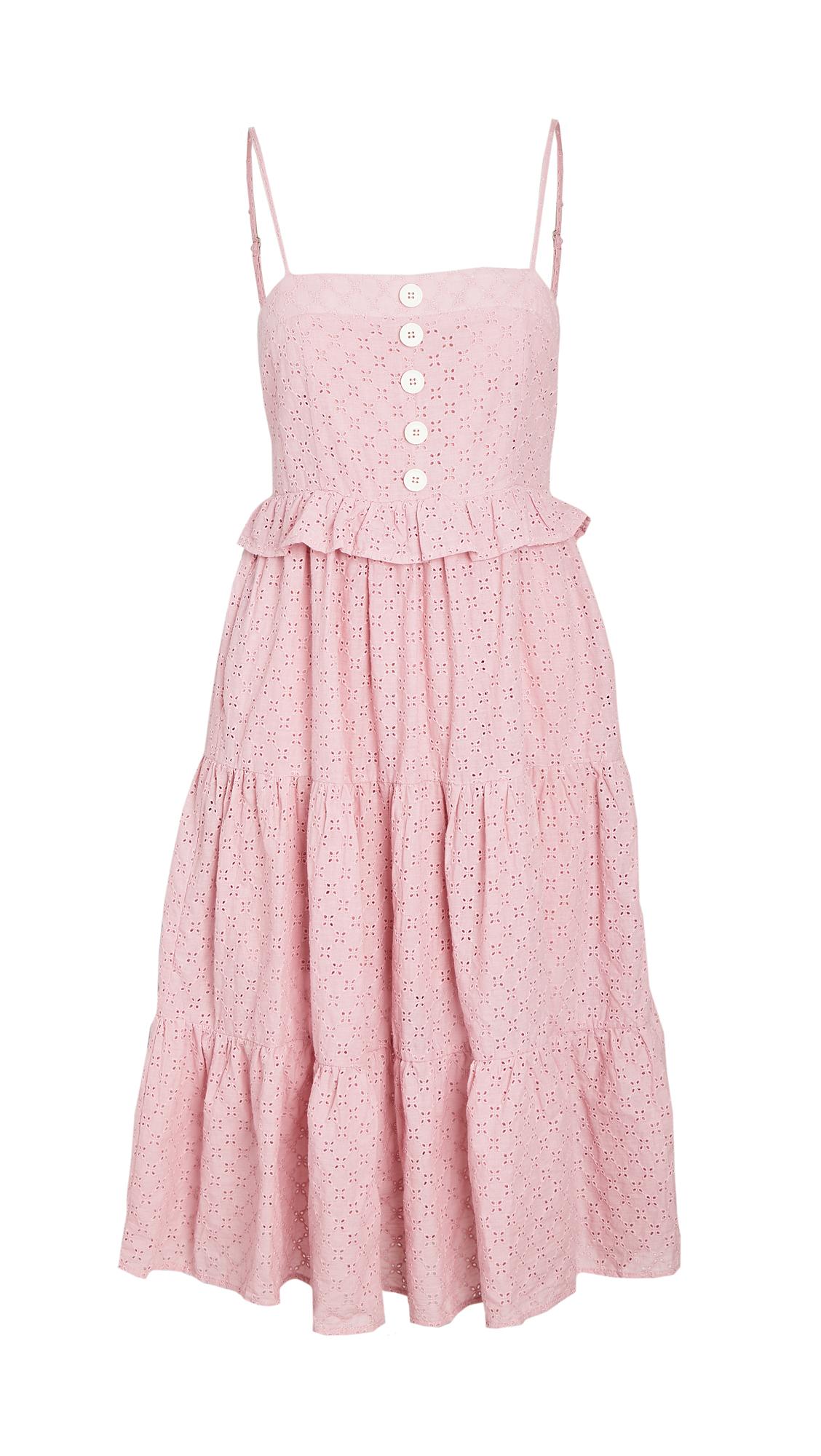 En Saison Eyelet Tiered Sleevless Dress