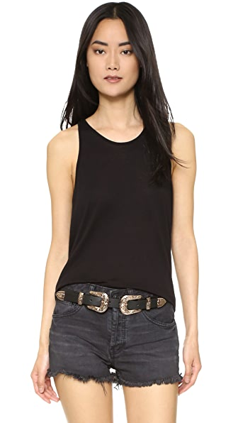 Enza Costa Cropped Sheath Tank - Black