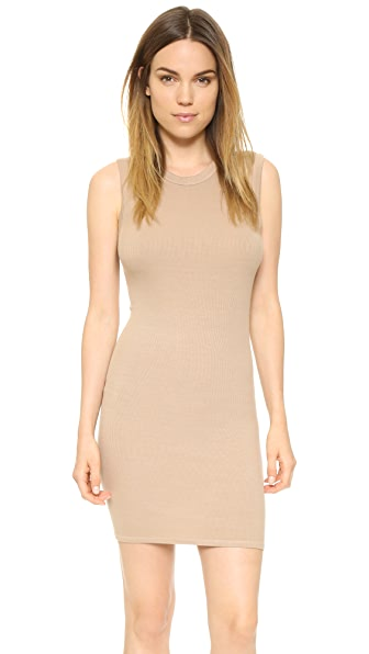 Enza Costa Ribbed Sleeveless Mini Dress