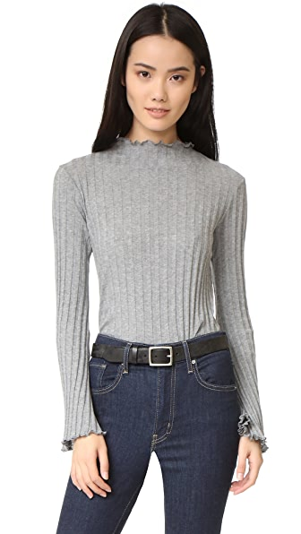 Enza Costa Ruffle Neck Sweater