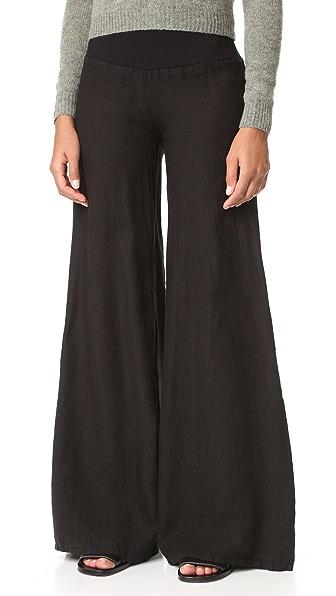 Enza Costa Wide Leg Pants - Faded Black