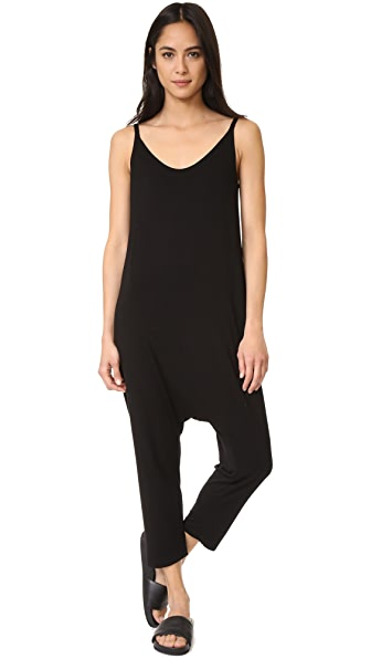 Enza Costa Strappy Rise Jumpsuit In Black