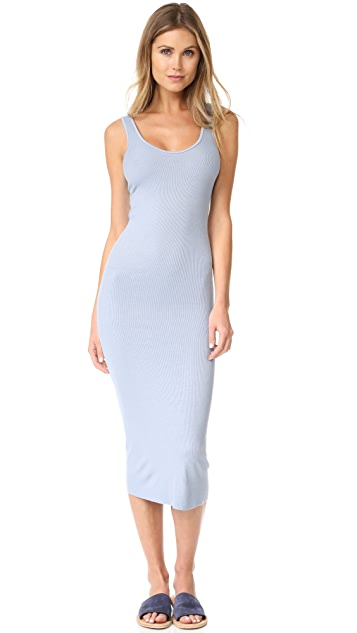 Enza Costa Ribbed Tank Dress