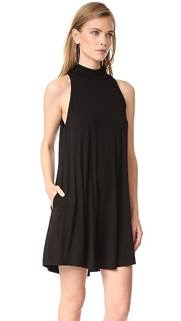 Enza Costa Mock Neck Mini Swing Dress