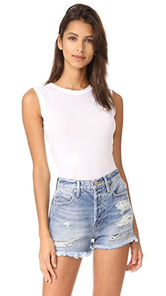 Enza Costa Fitted Muscle Tee - White