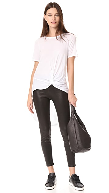 Enza Costa High Low Knotted Tee