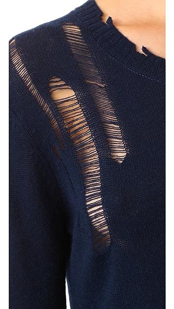 Enza Costa Drop Needle Side Slit Pullover