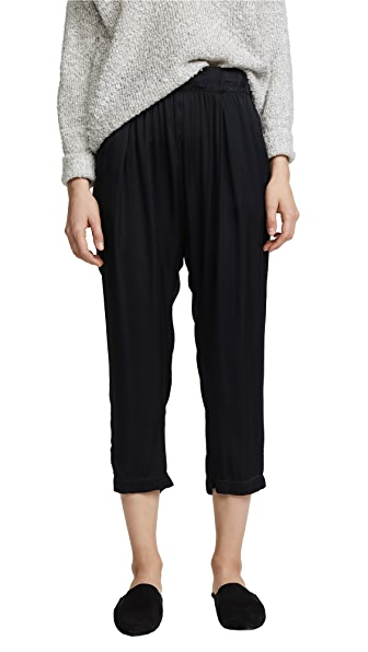 Enza Costa Long Rise Pants In Black