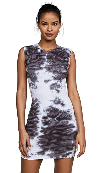 Enza Costa Rib Sleeveless Mini Dress In Carob Patina