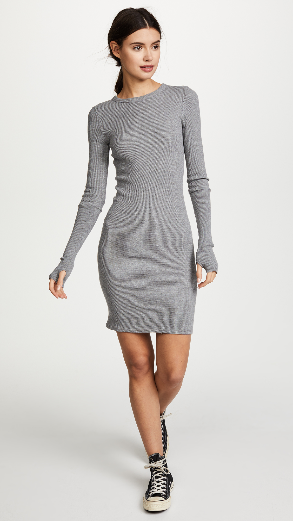 c57cb4585231 Enza Costa Cuffed Long Sleeve Mini Dress | SHOPBOP