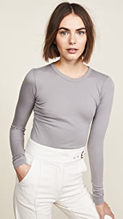 Enza Costa Bold Long Sleeve Crew Neck Tee