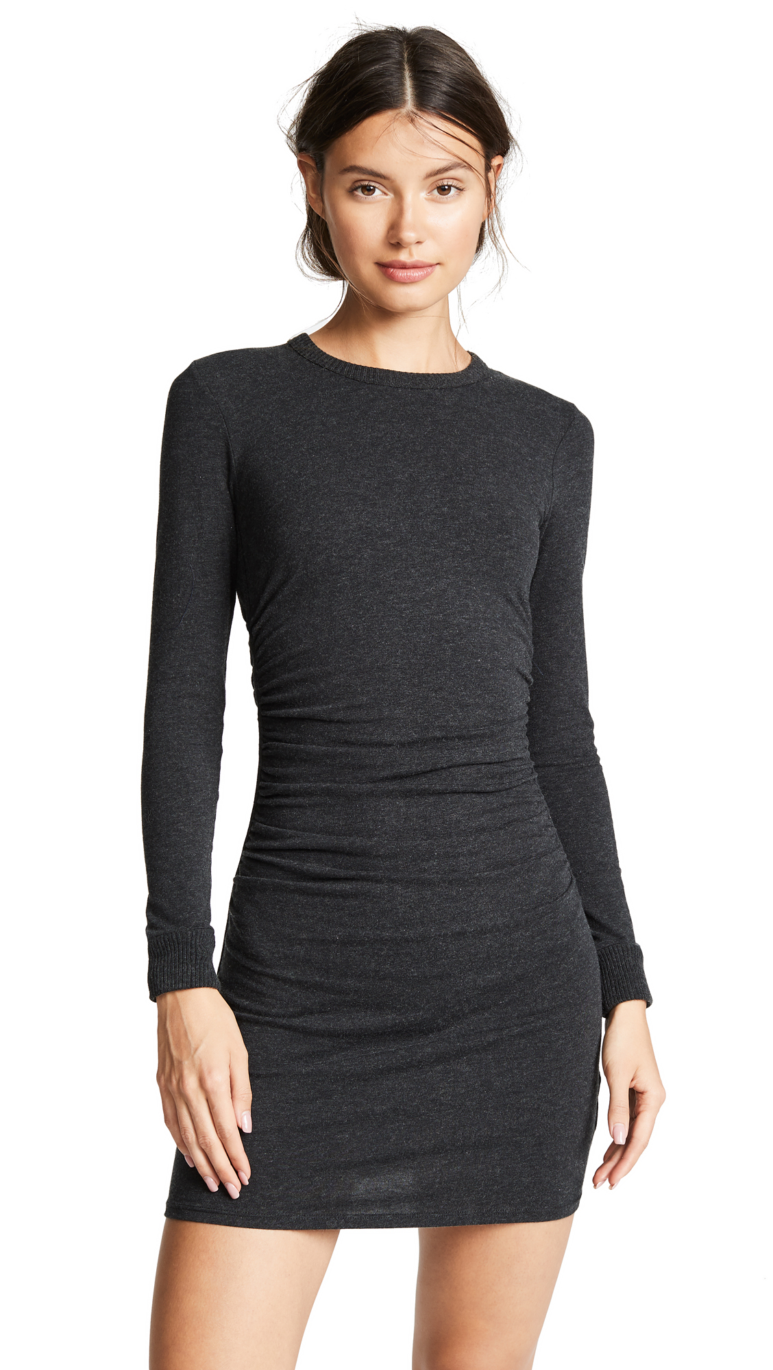 Enza Costa Ruched Mini Dress In Charcoal