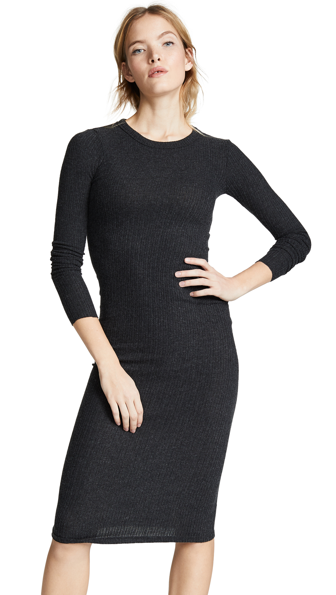 Enza Costa Back Keyhole Midi Dress