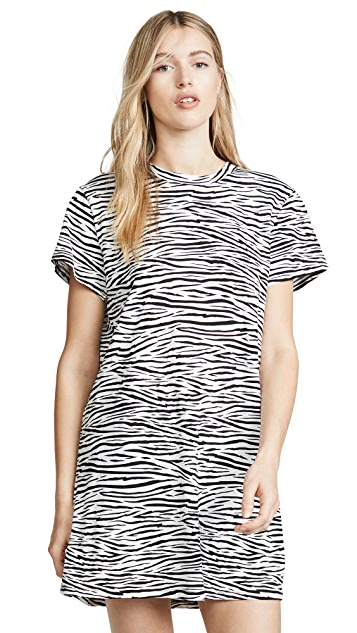Enza Costa Zebra Tee Dress