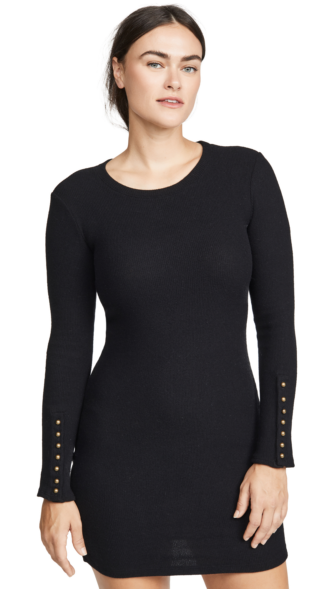 Buy Enza Costa online - photo of Enza Costa Button Cuff Mini Dress
