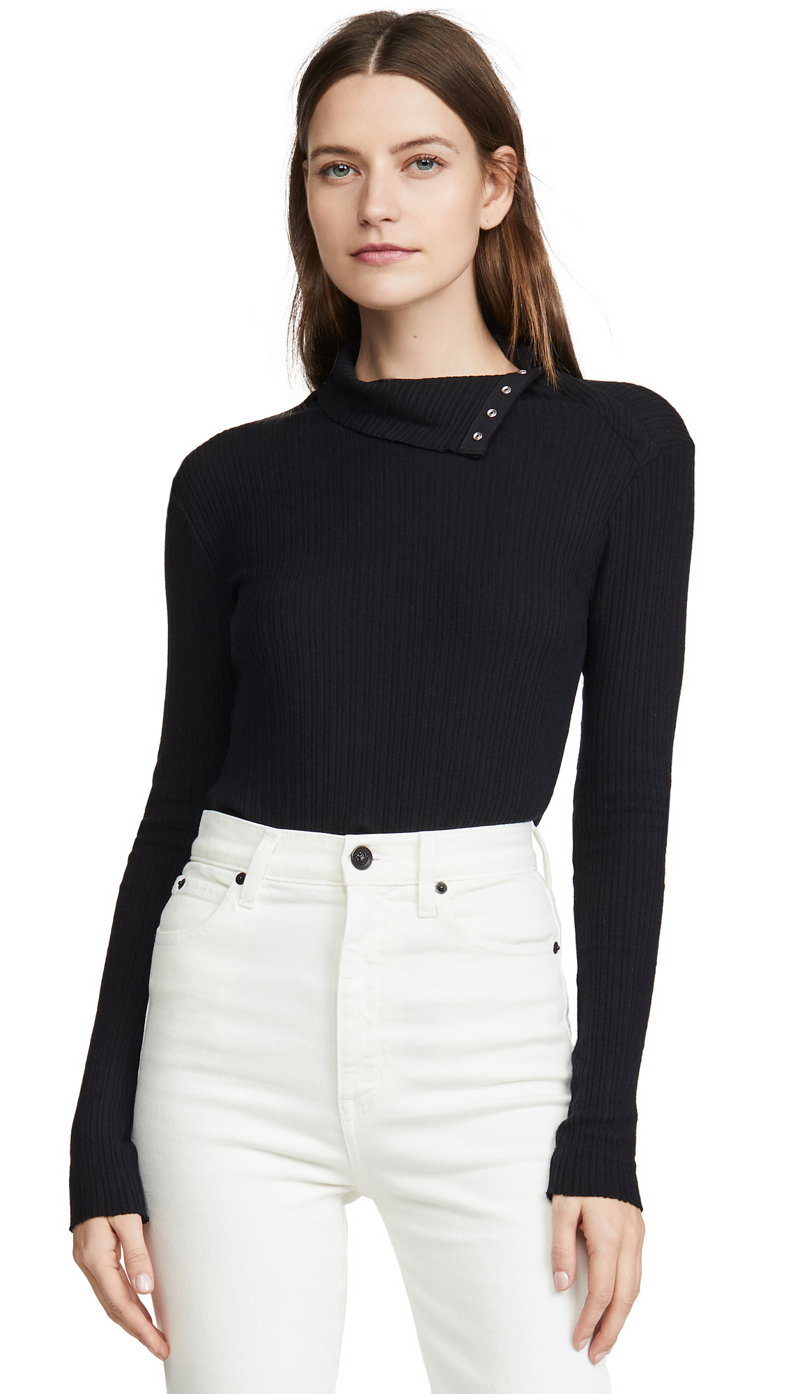 Buy Enza Costa online - photo of Enza Costa Brushed Rib Split Collar Shirt