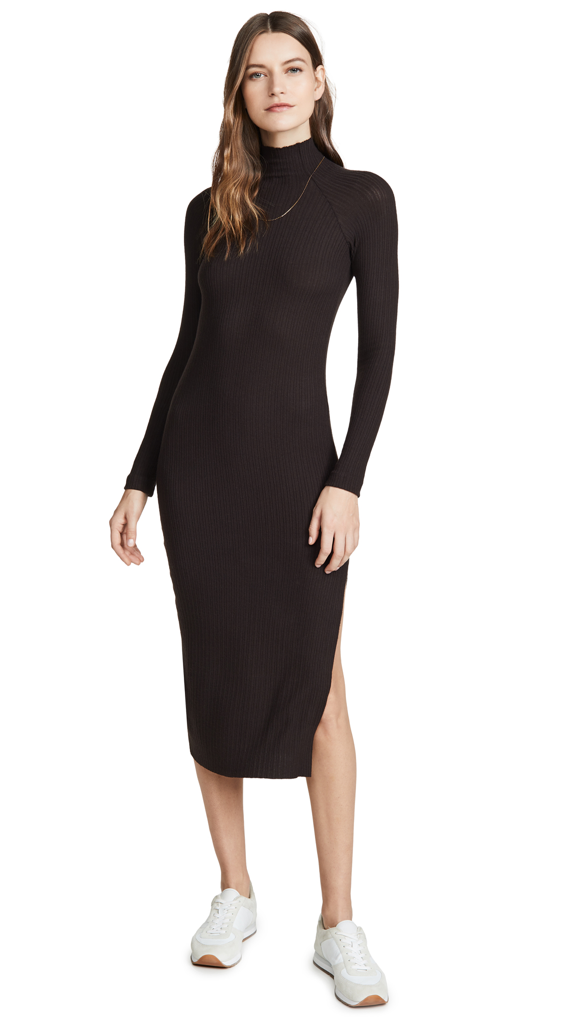 Enza Costa Brushed Rib Raglan Midi Dress - 55% Off Sale