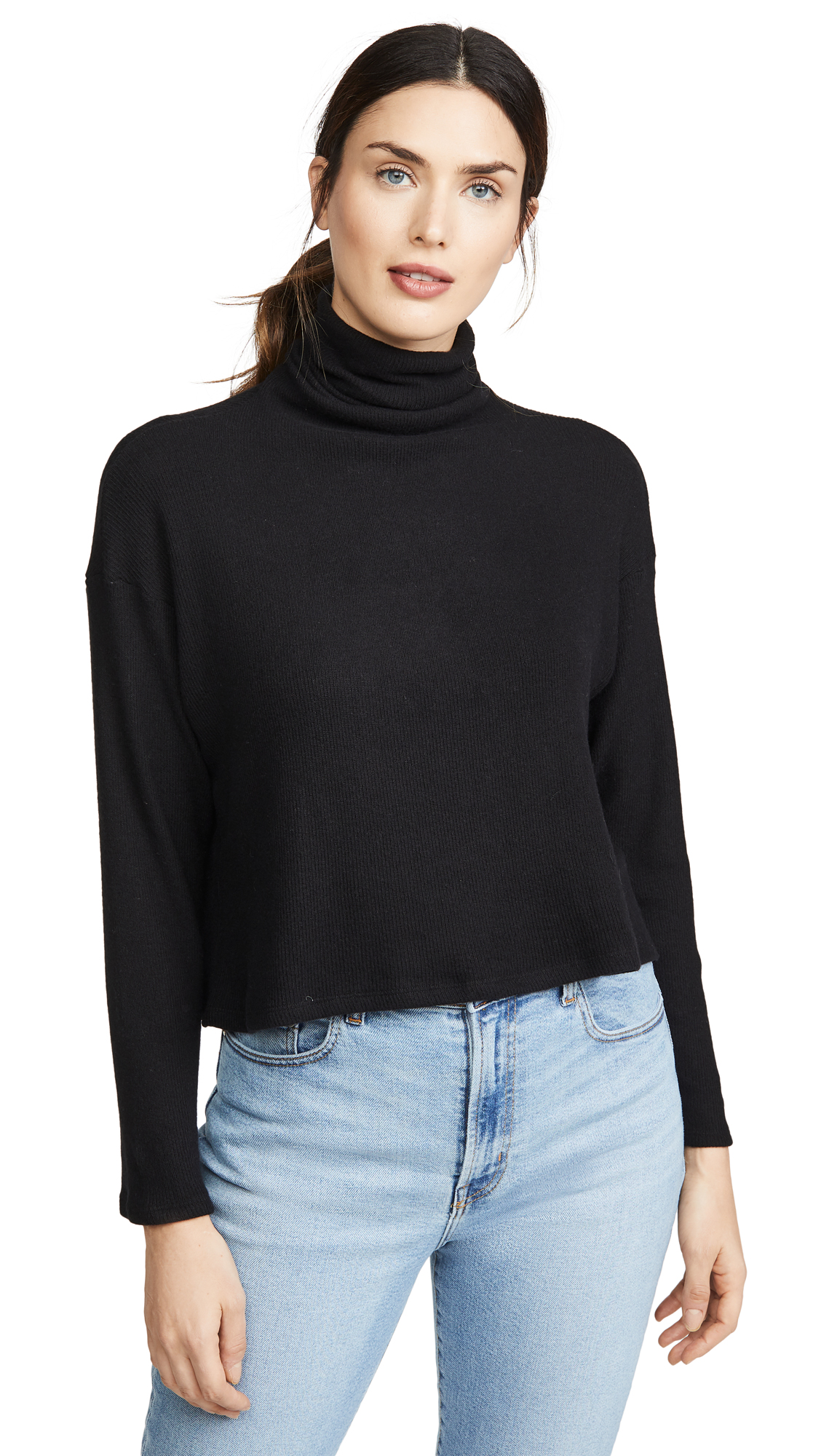 Buy Enza Costa online - photo of Enza Costa Sweater Knit Cropped L/S turtleneck