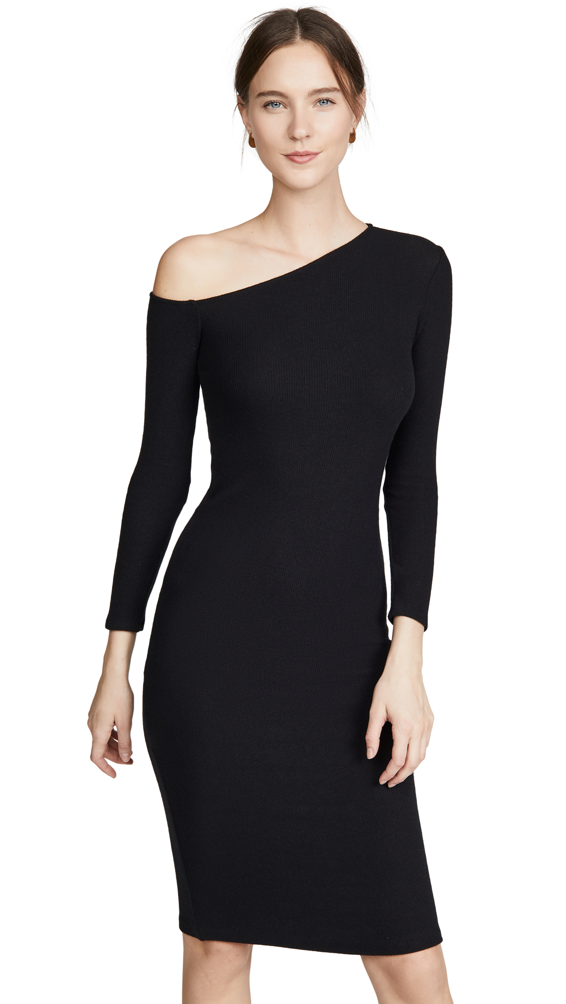 Buy Enza Costa online - photo of Enza Costa Angled Neck Midi Dress
