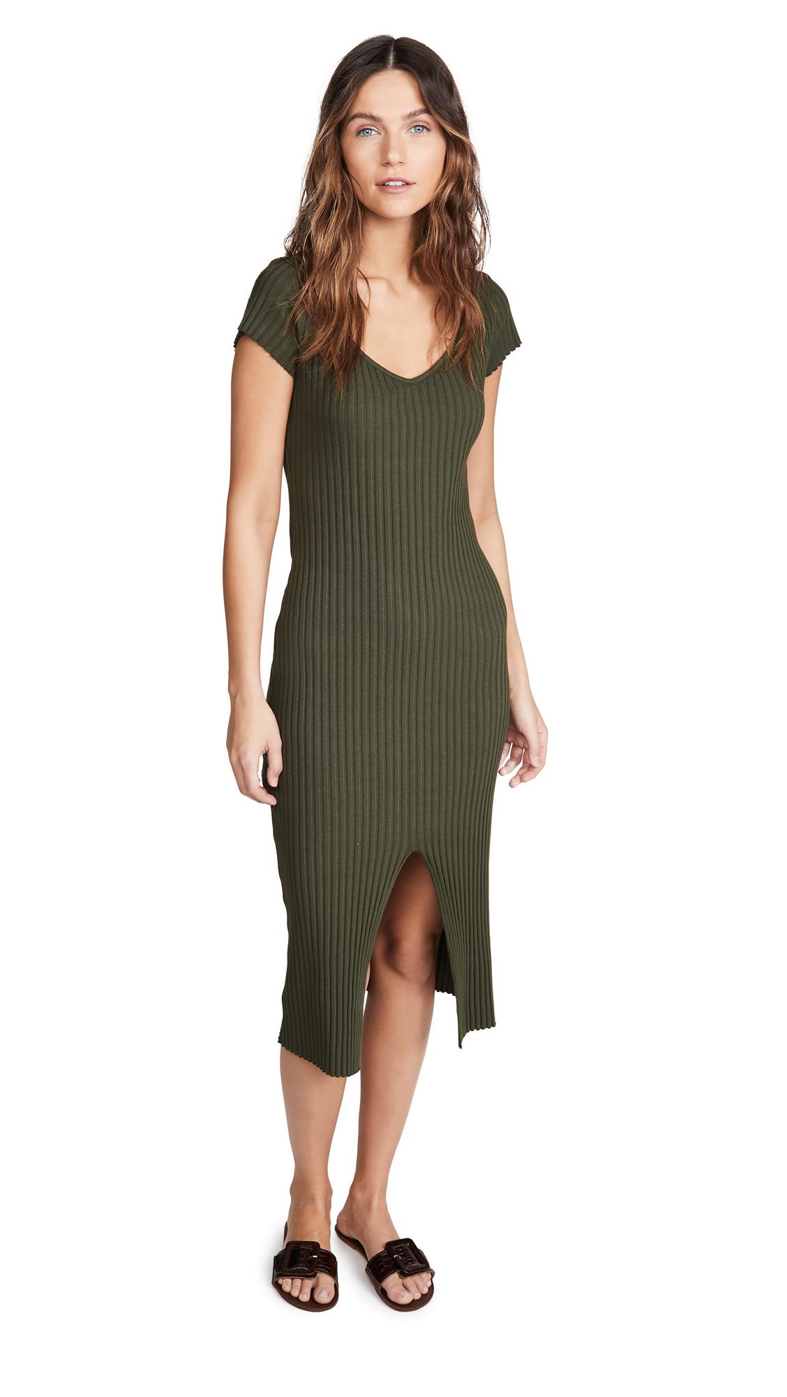 Buy Enza Costa Rib Cap Sleeve Midi Dress online beautiful Enza Costa Clothing, Dresses