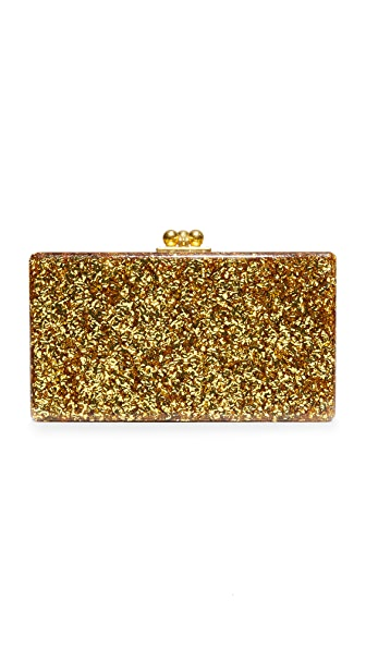 Edie Parker Jean Solid Clutch - Gold Confetti