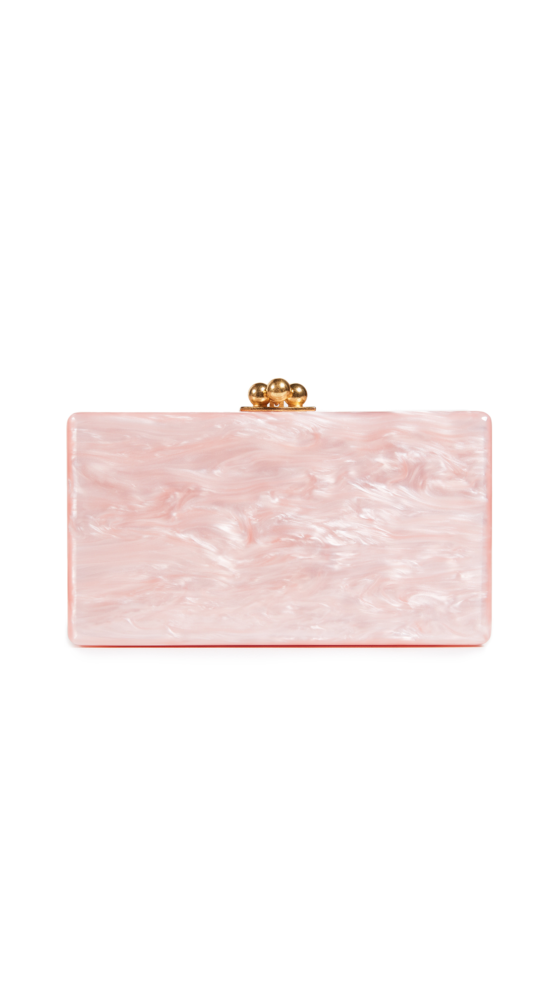 Edie Parker Jean Solid Clutch - Rose Quartz