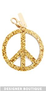 Peace Keychain Edie Parker