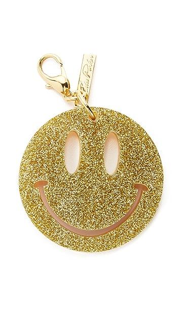 Edie Parker Happy Face Keychain