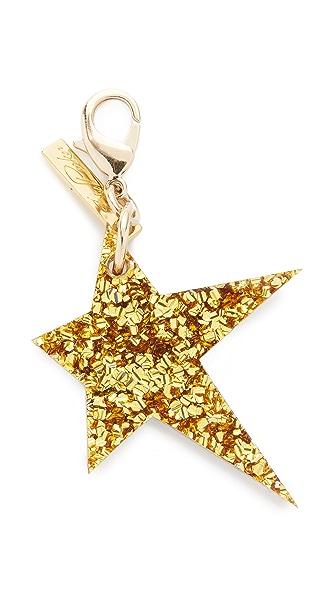 Edie Parker Star Keychain - Gold/Silver